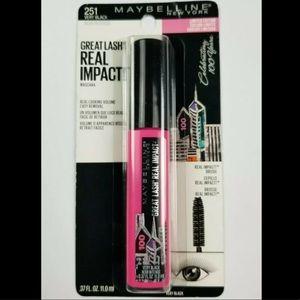 3 MAYBELLINE Great Lash VERY BLACK Ltd Ed Mascaras